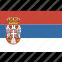 flag, serbia