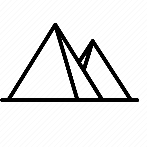 Pyramid, landmark, place, monument icon - Download on Iconfinder
