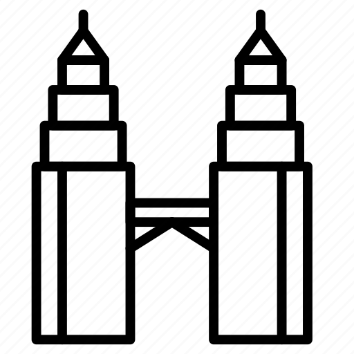 Twin, tower, landmark, monument, building icon - Download on Iconfinder