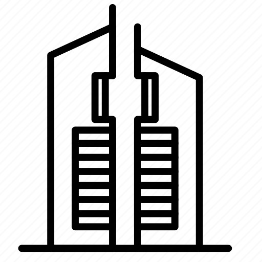Twin, tower, landmark, monument icon - Download on Iconfinder