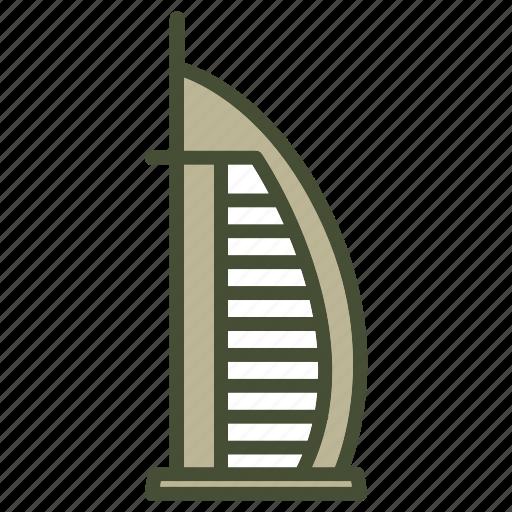 Burj, dubai, emirates, hotel, united icon - Download on Iconfinder