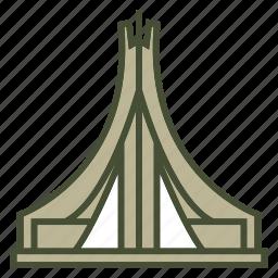 algeria, landmark, martyr icon