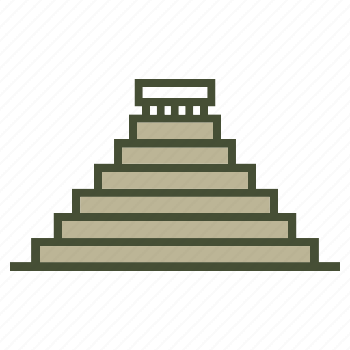 Archaeological sites, famous, kukulcan, landmark icon - Download on Iconfinder