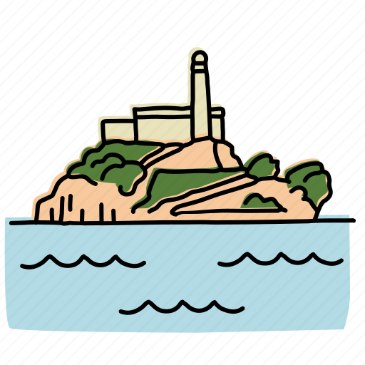 Alcatraz Buildings Island Landmarks Lighthouse Prison Sketch Icon Download On Iconfinder