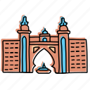 atlantis palm, buildings, drawing, dubai, hotel, landmarks, sketch icon