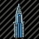 building, buildings, chrysler, landmarks, new, sketch, york