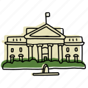 buildings, dc, landmarks, sketch, usa, washington, white house icon