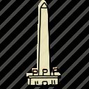 buildings, dc, landmarks, monument, national mall, sketch, washington icon