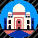 india, landmark, mahal, scenery, taj