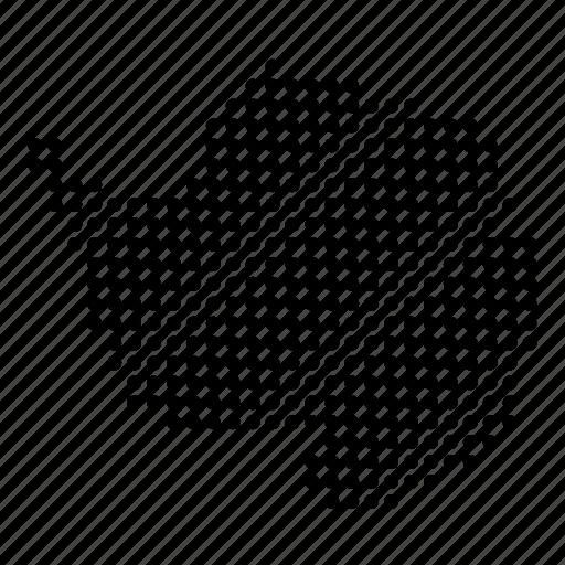 antarctica, continent, location, map, region icon