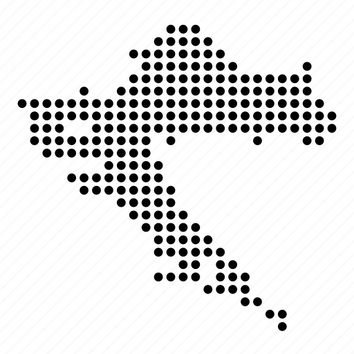 Country croatia croatian location map icon Icon search engine