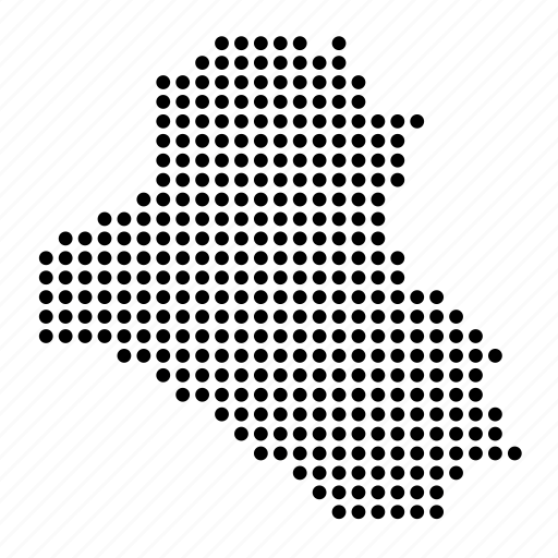 country, iraq, iraqi, location, map icon