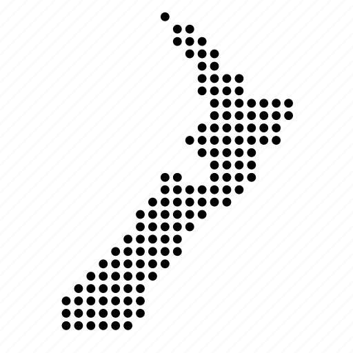 country, kiwi, location, map, new zealand icon