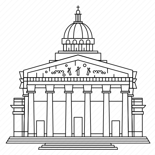 architecture, landmark, monument, pantheon icon