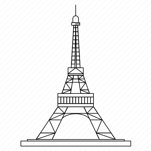 architecture, eiffel, landmark, monument, tower icon