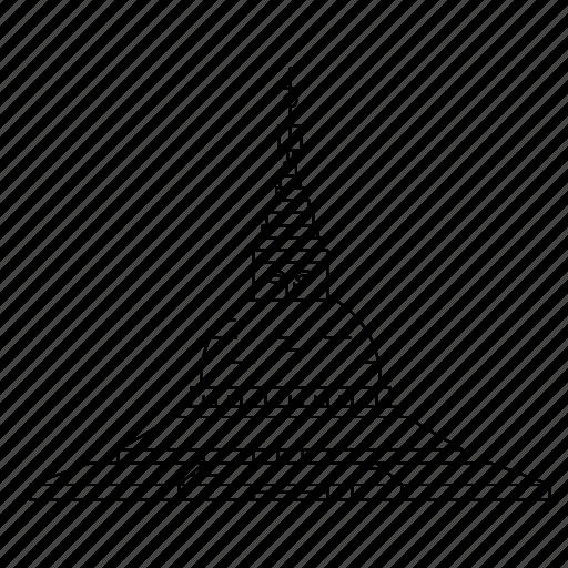 architecture, boudhanath, landmark, monument icon