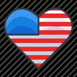 america, heart, monuments, signatures, world icon