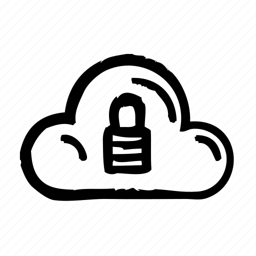 cloud, computer, internet, locked, technology, web icon