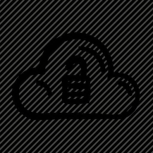 cloud, computer, internet, technology, unlocked, web icon