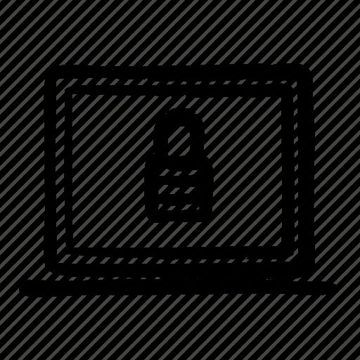 computer, internet, locked, notebook, technology, web icon