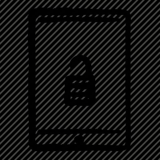 computer, internet, tablet, technology, unlocked, web icon
