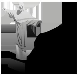 brazil, christ, statue icon