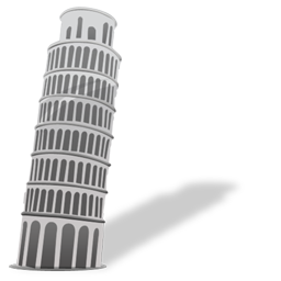 building, italy, pisa, tower icon