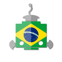 bot, br, brazil, flag, robot, telegram icon