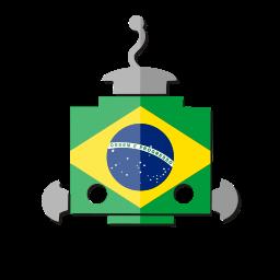 bot, br, brazil, flag, robot, telegram icon