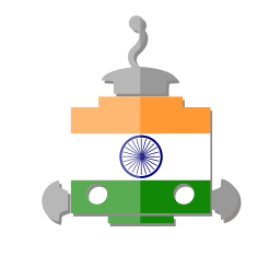 bot, flag, in, india, robot, telegram icon