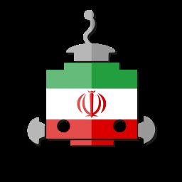 bot, flag, ir, iran, robot, telegram icon