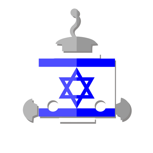 bot, flag, il, israel, robot, telegram icon