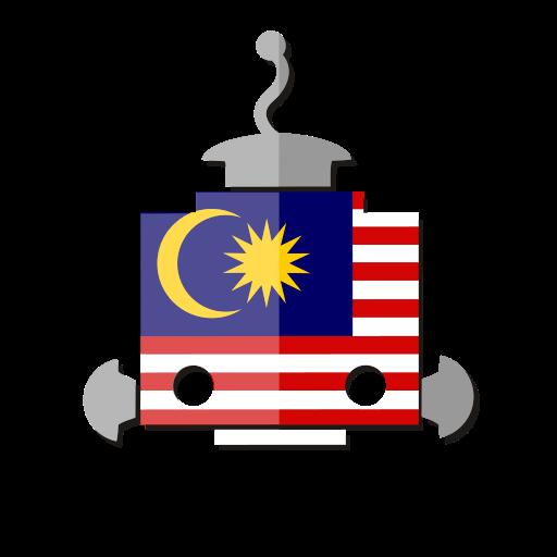 bot, flag, malaysia, my, robot, telegram icon