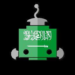 bot, flag, robot, sa, saudi arabia, telegram icon