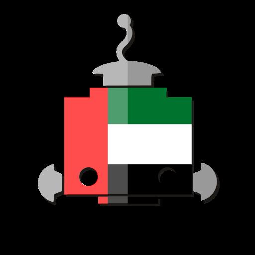 ae, bot, flag, robot, telegram, uae, united arab emirates icon