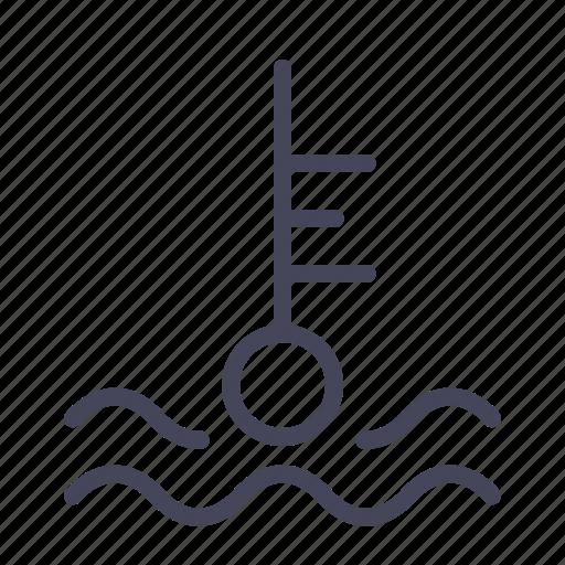 automobile, cars, heat, temperature, wsd icon