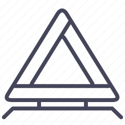 automobile, cars, triangle, warning triangle, wsd icon