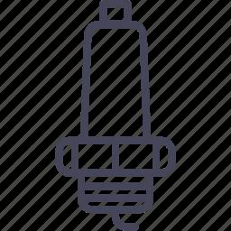 automobile, cars, spark, spark plug, wsd icon