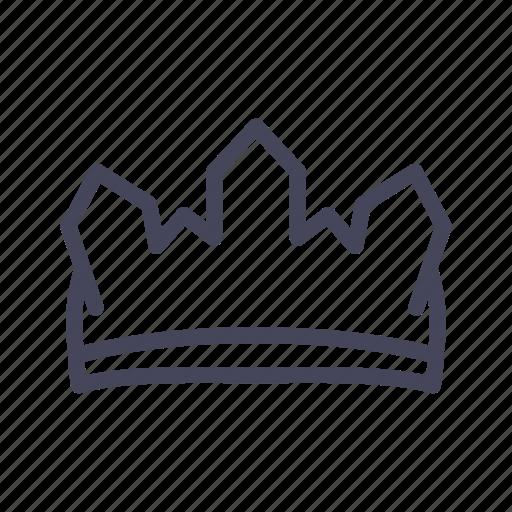 castle, crown, head icon