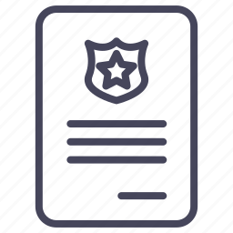 document, expenses, fine, forfeit, penalty, warrant icon
