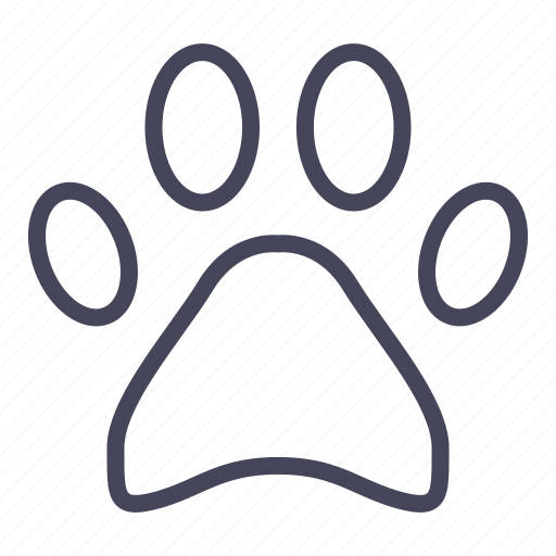 cat, dog, expenses, footprint, paw, pet icon