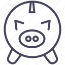 bank, expenses, money, moneybox, pig, savings icon