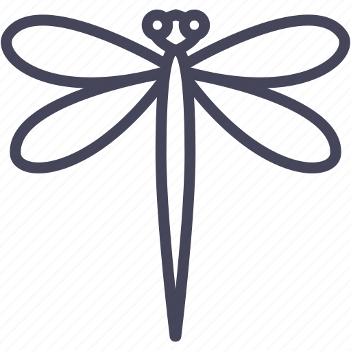dragonfly, flying adder, garden, insects, nature icon