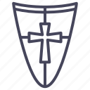 age, knight, protection, secure, shield, war, warrior icon