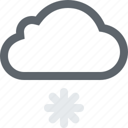 cloud, cloudy, cold, flurries, frost, frozen, light, snow, storm, weather, winter icon