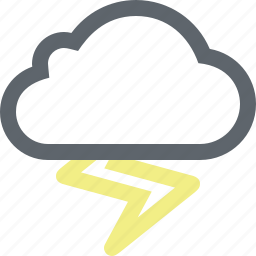 bolt, cloud, cloudy, lightning, storm, thunderstorm, weather icon