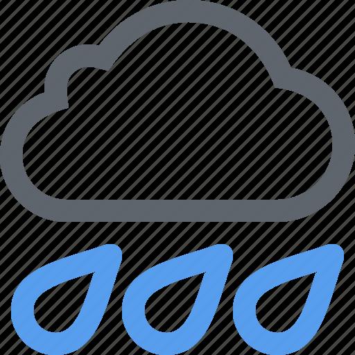 cloud, cloudy, heavy, pour, rain, storm, weather icon