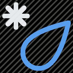 ice, mix, rain, snow, storm, weather icon
