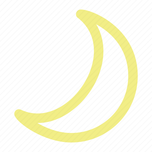 calendar, clear, crescent, lunar, moon, night, weather icon