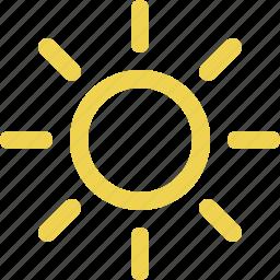 bright, calendar, clear, day, daytime, forecast, solar, sun, sunlight, sunny, sunshine, weather icon